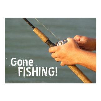 Gone Fishing Company Fishing Trip Invitation