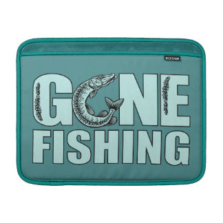 "GONE FISHING custom 13"" MacBook sleeve"
