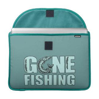 """GONE FISHING custom 15"""" MacBook sleeve"""