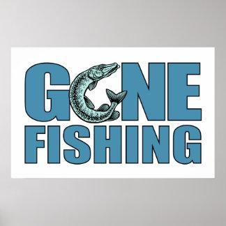 GONE FISHING custom poster