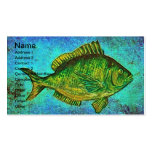 Gone Fishing Digital Art Business Cards