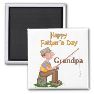 Gone Fishing Father's Day - Grandpa Refrigerator Magnet