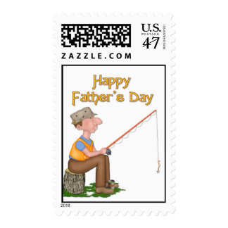 Gone Fishing Father's Day Postage