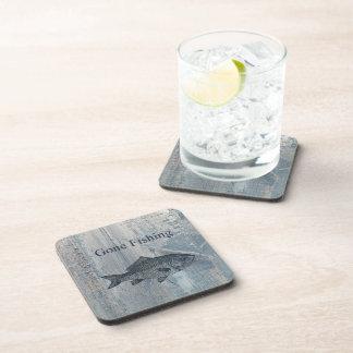 Gone Fishing Fish Beverage Coasters
