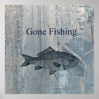 Gone Fishing Fish Poster