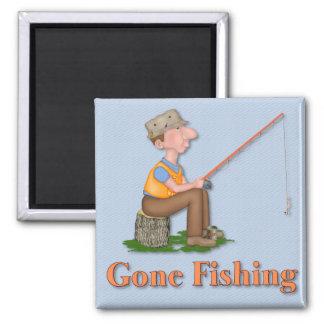 Gone Fishing Fisherman Magnet