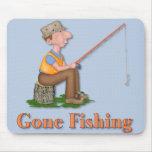 Gone Fishing Fisherman Mouse Pad