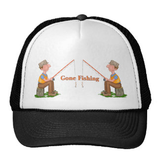 Gone Fishing Fisherman Trucker Hat