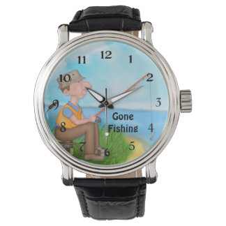 Gone Fishing Fisherman Wristwatch