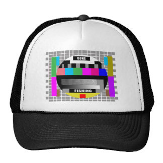 Gone Fishing, Funny Test Pattern T-Shirts! Trucker Hat