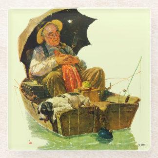 Gone Fishing Glass Coaster