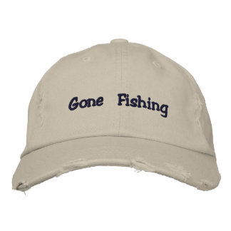 Gone Fishing hat Embroidered Hats