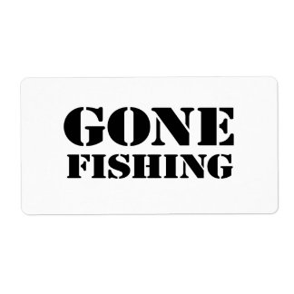Gone Fishing Shipping Labels
