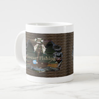 Gone Fishing Large Coffee Mug