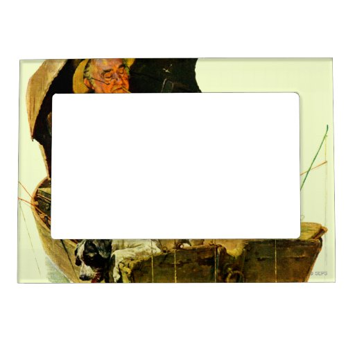 Gone fishing magnetic picture frame zazzle for Fishing picture frame