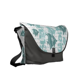 Gone fishing Messenger Bag rickshawmessengerbag