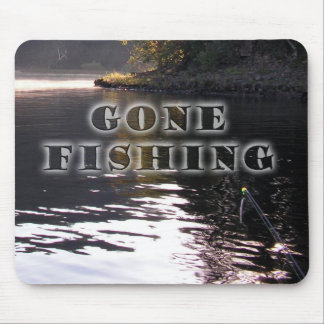 Gone fishing mouse pad