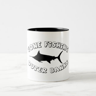 Gone Fishing. OBX Two-Tone Coffee Mug