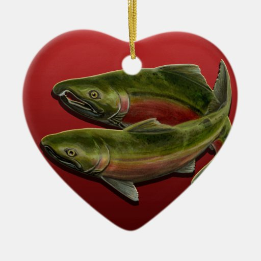 Gone fishing ornament personalized salmon gift zazzle for Unique fishing gifts