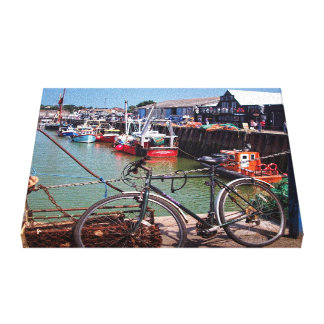 Gone Fishing Picturesque Whitstable Kent Image Canvas Print