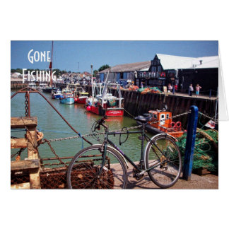 Gone Fishing Picturesque Whitstable Kent Image Greeting Card