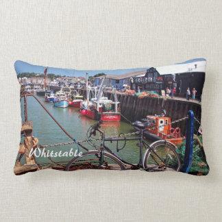 Gone Fishing Picturesque Whitstable Kent  UK Lumbar Pillow