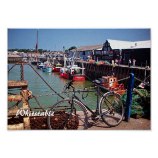 Gone Fishing Picturesque Whitstable Kent  UK Poster
