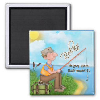 Gone Fishing Retirement Magnet
