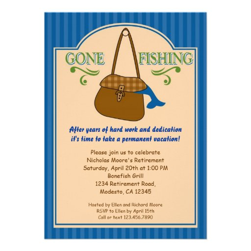 Personalized Gone fishing Invitations – Fishing Party Invitations