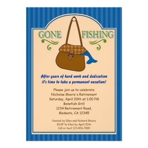 Personalized Gone fishing Invitations CustomInvitations4Ucom
