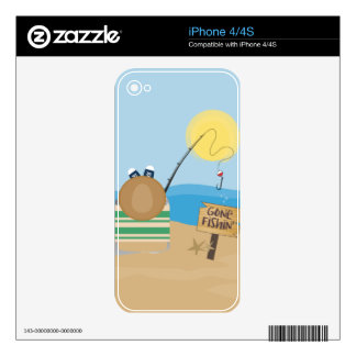 Gone Fishing Skin For The iPhone 4S