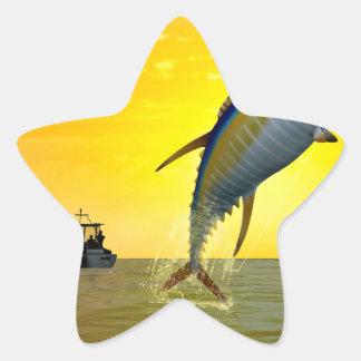 Gone Fishing Star Sticker
