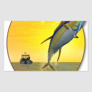Gone Fishing Rectangular Sticker