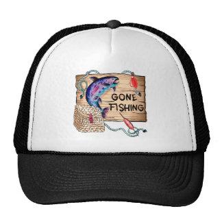 Gone Fishing Trucker Hat