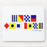 Gone Fishing using Nautical Flags Mouse Mat