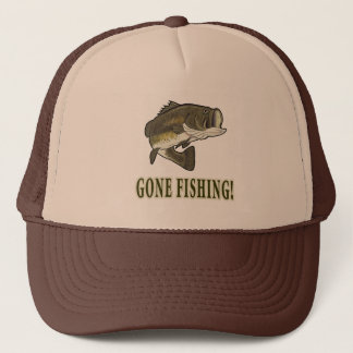 Gone Fishing with Largemouth Bass Trucker Hat