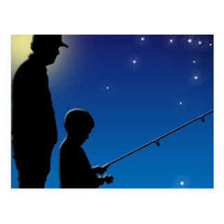 Gone Fishing with my Son Postcard