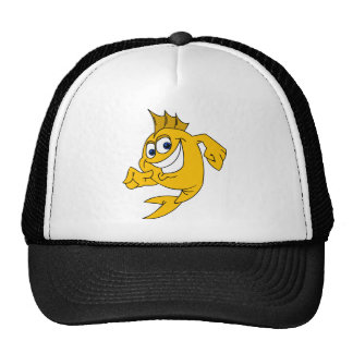 Gone Fishing with pointing fish Trucker Hat