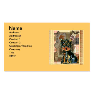 GONE FISHING YORKIE Double-Sided STANDARD BUSINESS CARDS (Pack OF 100)