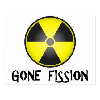 Gone Fission Radiation Symbol Postcard