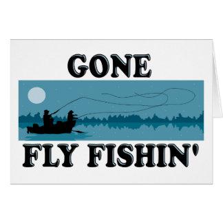 Gone Fly Fishin' Greeting Card
