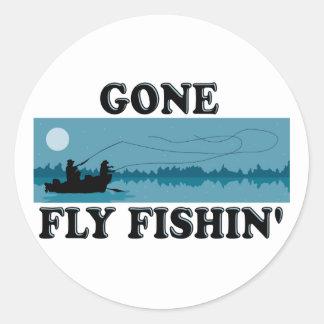 Gone Fly Fishin' Classic Round Sticker