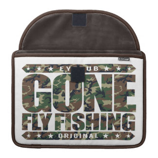 GONE FLY FISHING - State Freshwater Record Holder Sleeve For MacBooks