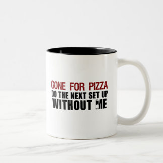 Gone For Pizza Two-Tone Coffee Mug