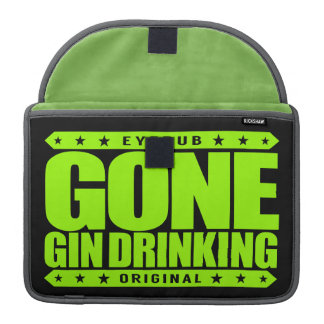 GONE GIN DRINKING - I Love Gin and Tonic with Lime Sleeve For MacBook Pro
