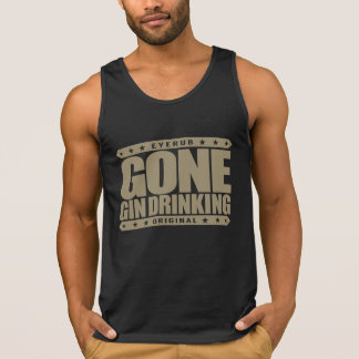 GONE GIN DRINKING - I Love Gin and Tonic with Lime Tank Top
