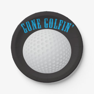 Gone Golfing Paper Plate