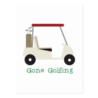 Gone Golfing Postcard