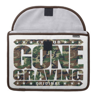 GONE GRAVING - Love Searching Out Cemetery Graves MacBook Pro Sleeve