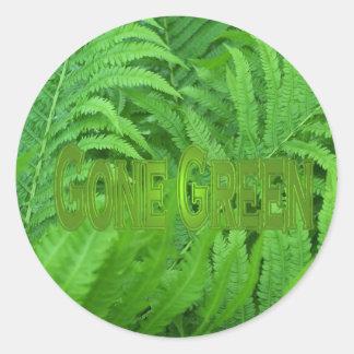 Gone Green 1 Round Sticker